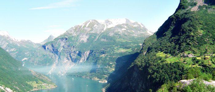 Der Blick in den Fjord