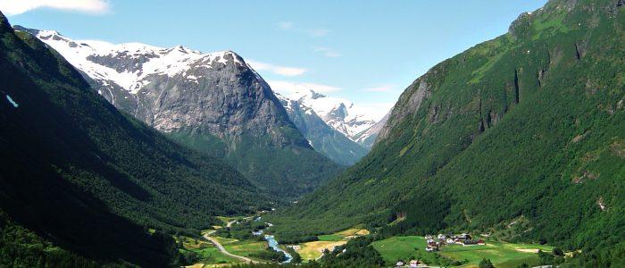 So große Berge in Norwegen