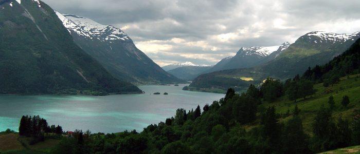 Was für ein Blick in den Fjord